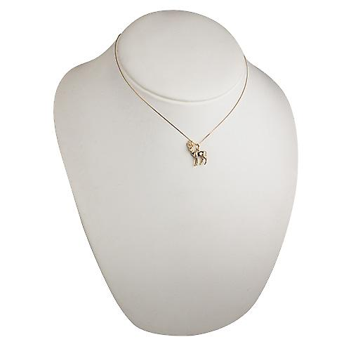 9ct Gold 22x17mm Antelope Pendant with a curb Chain 16 inches Only Suitable for Children