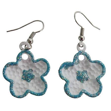 Blue Jewelry Blue Flower Star Cute Earring Beautiful Return Gifts