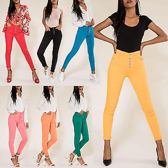 Women's High Waist Jeans Sexy Pants Stretch Skinny Treggings Casual Trousers