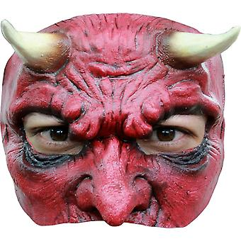 Latex Halbmaske Teufel für Halloween