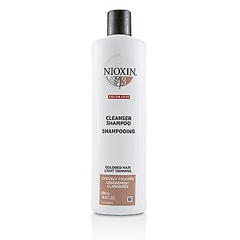 Nioxin Derma Purifying System 3 Cleanser Shampoo (Colored Hair, Light Thinning, Color Safe) 500ml/16.9oz