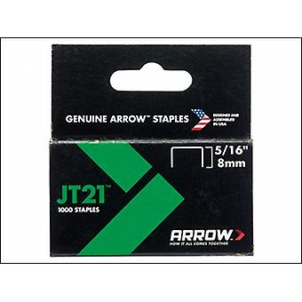 STAPLES FOR JT21 T27 BOX 1000 8MM 5/16IN