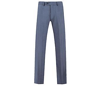 Dobell Mens Mississippi blauen Anzug Hose Regular-Fit
