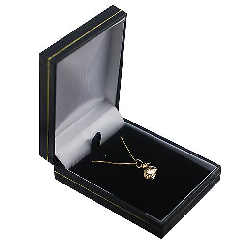 9ct Gold 9x12 Swimming Swan Pendant with a curb Chain 16 inches Only Suitable for Children