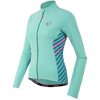 Pearl Izumi Aqua Mint Stripe Select Pursuit Thermal Womens Long Sleeved Cycling