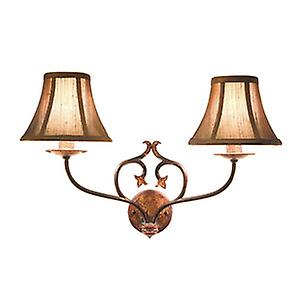 Elstead CN2 BUR/GOLD Coniston Traditional Forged Steel Double Wall Light