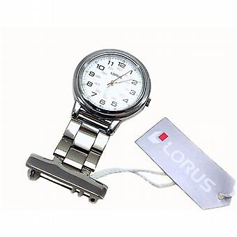 Lorus Unisex Professional White Dial Nurses Fob Watch RG251CX9
