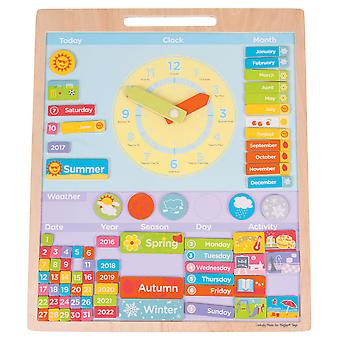Bigjigs Toys Educational Wooden Magnetic Weather Board Learn Seasons Time