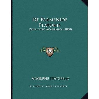 de Parmenide Platonis - Disputatio Academica (1850) by Adolphe Hatzfel