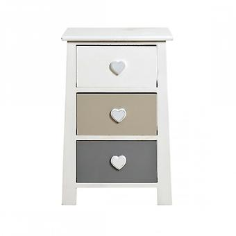 Rebecca Furniture nightstands Shabby Chic romantic white Beige light grey room bathroom