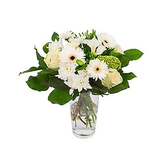 Botanicly - Bouquets | Bunch of Flowers Kim medium, white  | Height: 40 cm