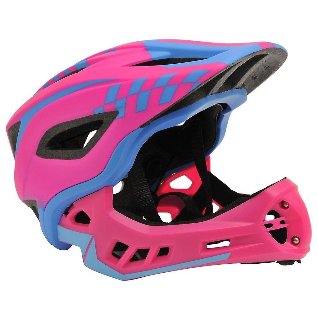 Enfantdimoto IKON Full Face Helmet-rose bleu