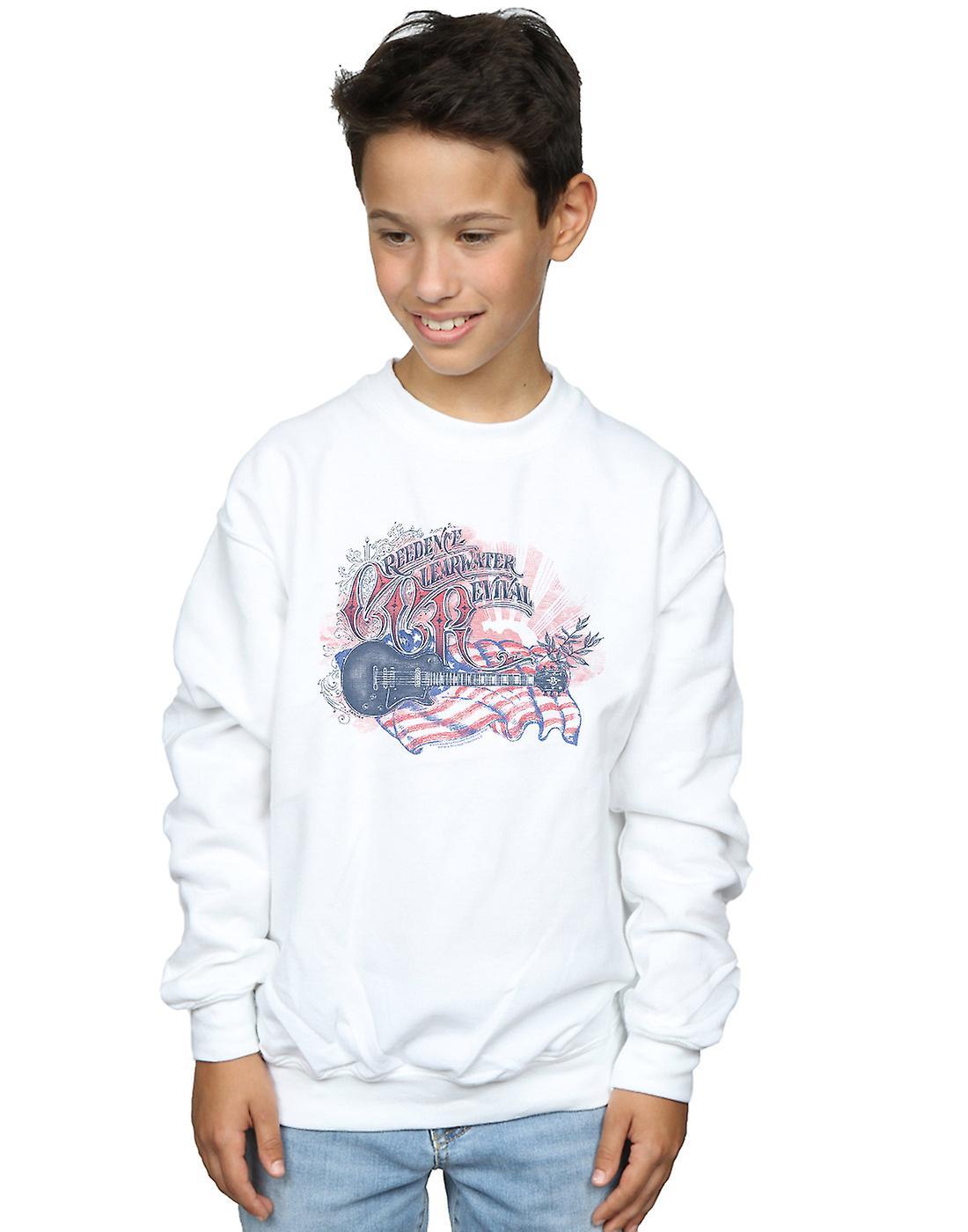 Creedence Clearwater Revival Boys Guitar Flag Sweatshirt