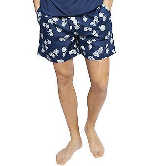 Cyberjammies 6420 Men's Harper Blue Mix Bicycle Print Cotton Pyjama Short