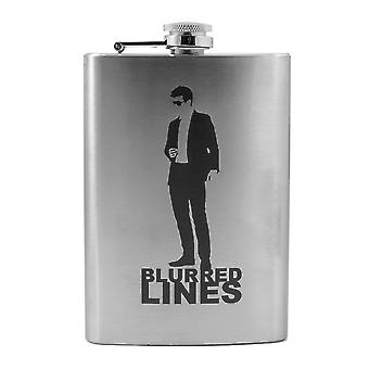 8oz blurred lines flask l1
