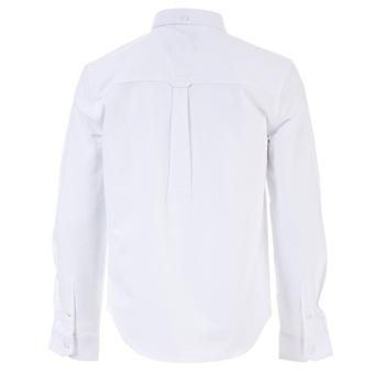 Infant Boys Farah Brewer Oxford Shirt In White- Button Down Collar- Long Sleeve-