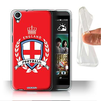 STUFF4 Gel/TPU Case/Cover für HTC Desire 820s Dual/England/Englisch/Football Emblem