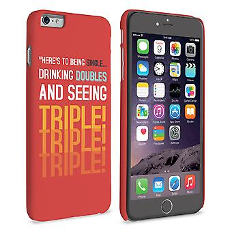 Caseflex iPhone 6 Plus en 6s Plus Single, Double, Triple citeer Hardcase – rood