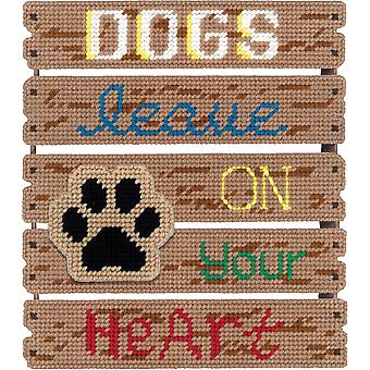 Pallet-Ables Dogs Leave Pawprints Plastic Canvas Kit-10.5