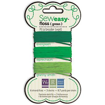 Sew Easy Floss Carded 26.1 Yards Green Sef 71065