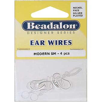 Ear Wires Modern 4 Pkg Silver Plated Nickel Free 308B 210