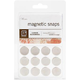Magnetic Snaps 6 Pkg Large 5 8