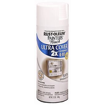 Painter's Touch Ultra Cover Satin Aerosol Paint 12 Ounces Blossom White Ptucs249 843