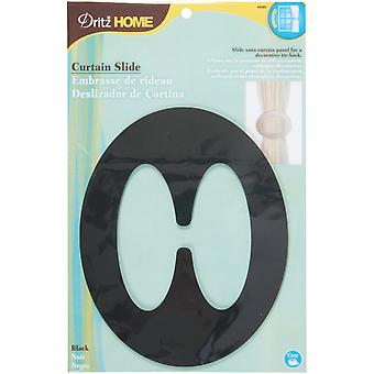 Curtain Slide 1 Pkg Black 44392