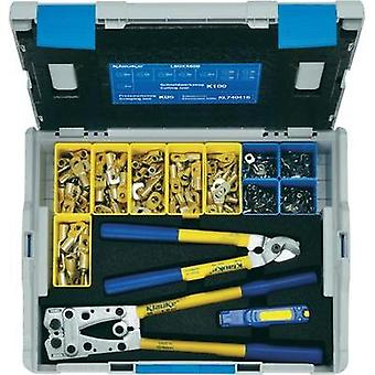 Crimper set 223-piece Spade terminals, Spade terminals 6 up to 50 mm² Incl. cable cutter, Incl. wire cutter, Incl. crimp