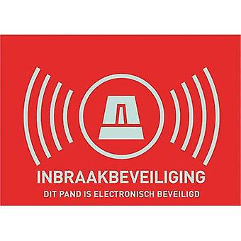 Warning label Alarm secured Languages Dutch (W x H) 74 mm x 53