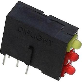 LED component Red, Yellow (L x W x H) 14.62 x 13.37 x 4.97 mm Dialight