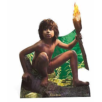 ディズニーのジャングルからモーグリ Lifesize のボール紙の排気切替器を備えた/立ち/スタンド ・ アップ