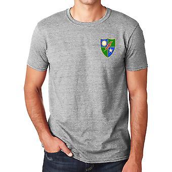 US Army 75th Ranger Regiment ricamato Logo - Ringspun Cotone T Shirt