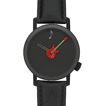 Akteo Red Guitar 42 Black (2) (Fashion accesories , Watches , Analog)