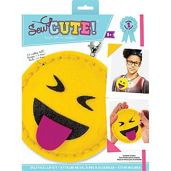 Sew Cute! Mini Felt Kit-Emoji Tongue Out SEWMINI-73615