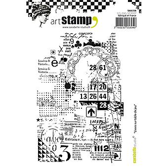Carabelle Studio Cling Stamp A6-Books On Gaming Table SA60208