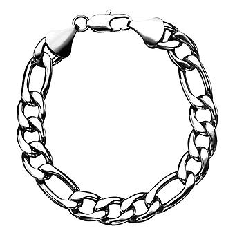 Men's stainless steel bracelet from Figaro chain
