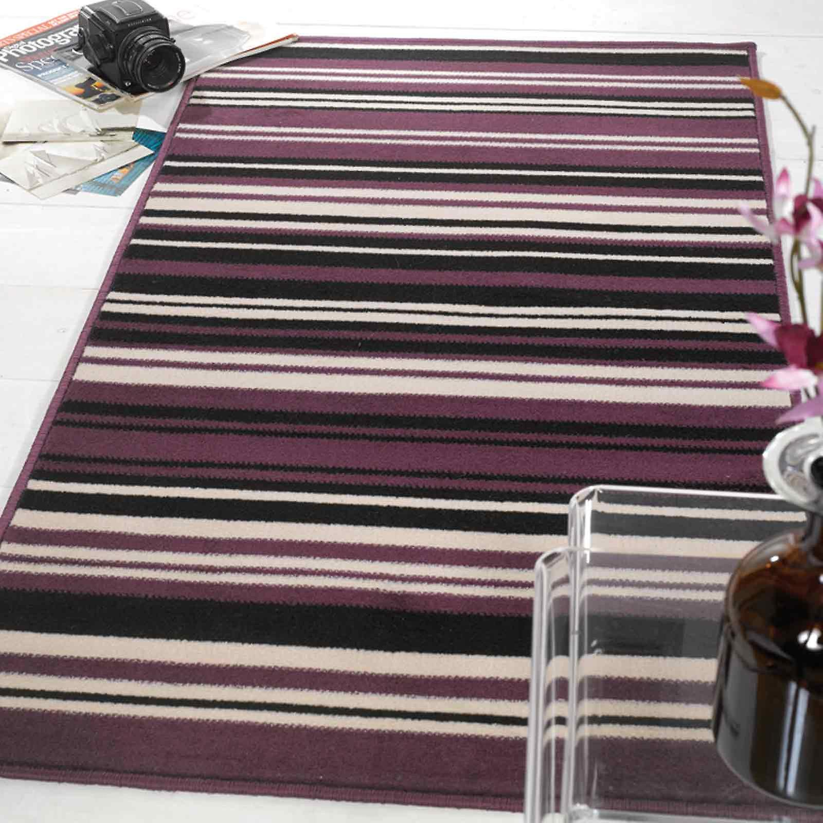 Element Canterbury Rugs In Purple Black