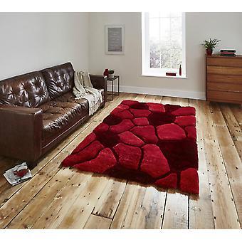 Nobel huis Pebbles 5858 rode rechthoek tapijten Plain/bijna gewoon tapijten