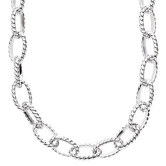 Iced out stainless steel hip hop chain - 6mm silver