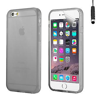 Crystal gel case cover for Apple iPhone 6 Plus (5.5 inch) + touch stylus - Black