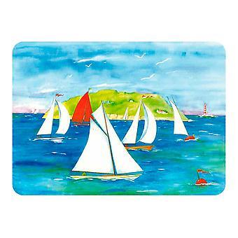 Tuftop 40 cm x 30 cm Medium bordplade Saver, sejler yachter, tekstureret