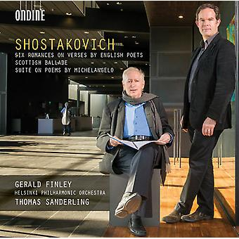 Shostakovich/Helsinki Philharmonic Orch/Finley - Six Romances on Verses by British Poets/Scottish [CD] USA import