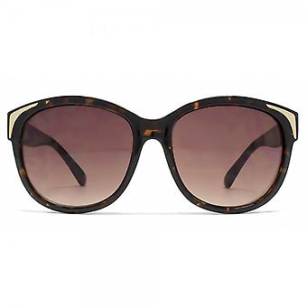 French Connection Oversized Retro Sunglasses In Tortoiseshell