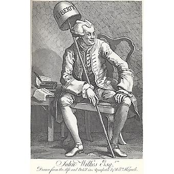 William Hogarth - John Wilkes Esq Poster impressão giclée