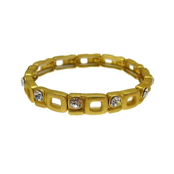 W.A.T Matt Gold Crystal Open Space Bracelet