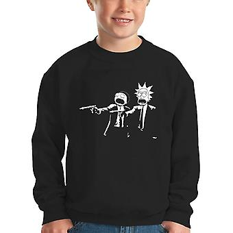 Rick und Morty Pulp Fiction Kinder Sweatshirt