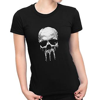 Bestrafen Sie Punisher Totenkopf Spray Damen T-Shirt