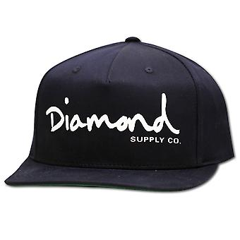Diamond Supply Co OG Script Snapback Navy Blue