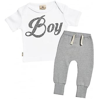 Spoilt Rotten Boy Baby T-Shirt & Joggers Outfit Set